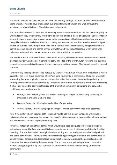 05 09 Being Church (9th May 10).pdf - The Regeneration Project