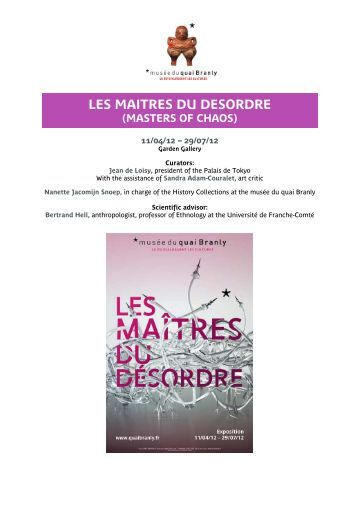les maitres du desordre (masters of chaos) - musée du quai Branly