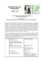 Phytotherapie im Pferdesport SMGP-vet - Vet-congress...