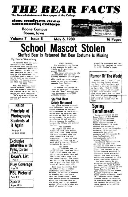 May 6 1980 Pdf Des Moines Area Community College