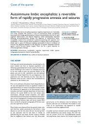 Autoimmune limbic encephalitis: a reversible form of rapidly