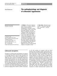 The pathophysiology and diagnosis of orthostatic hypotension