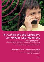 die gefährdung und schädigung von kindern durch mobilfunk