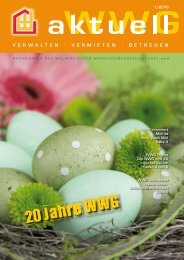 Ausgabe 01/2010 - Wolmirstedter Wohnungsbaugesellschaft mbH