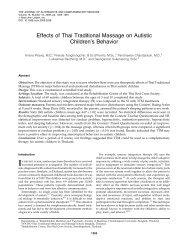 Effects of Thai Traditional Massage on Autistic Children's Behavior
