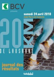 Journal des résultats [PDF - 12'182 ko] - 20 km de Lausanne