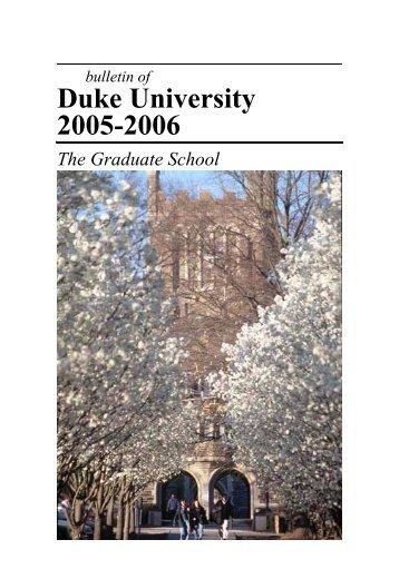 2005-06 - Office of the Registrar - Duke University