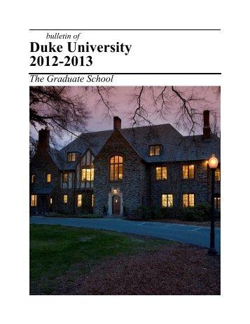 Academic Calendar 2012-2013 - Office of the Registrar - Duke ...