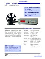 Optical Chopper - Prager Elektronik