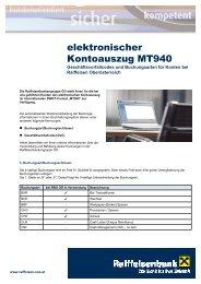 elektronischer Kontoauszug MT940