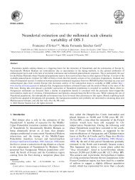 Neandertal extinction and the millennial scale climatic variability of ...
