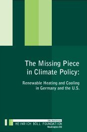 The Missing Piece in climate Policy - Heinrich Böll Foundation