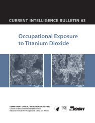 Occupational Exposure to Titanium Dioxide - Centers for Disease ...