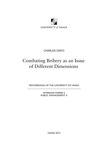 Combating Bribery as an Issue of Different ... - Vaasan yliopisto