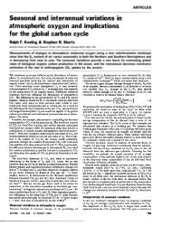 Seasonal and interannual variations in atmospheric oxygen and