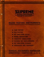 1939 Updated Tube List - Steve's Supreme Instruments Collection