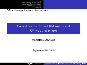 Current status of the CKM matrix and CP-violating phases - Desy