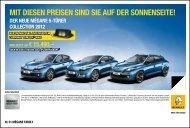 MIT DIESEN PREISEN SIND SIE AUF DER ... - bei Renault Liesing!