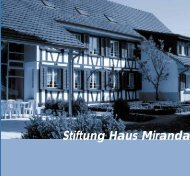Stiftung Haus Miranda - Sozialtherapeutische Lebensgemeinschaft ...