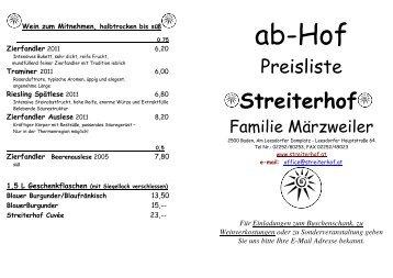 Wein ab Hof f-374r Walter - Streiterhof