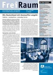 FreiRaum - Gewaltfreie Aktion Atomwaffen Abschaffen
