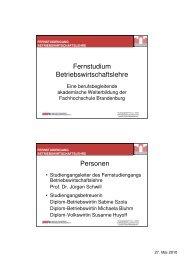 Wissenschaftliches Arbeiten und Schreiben - Fachhochschule ...