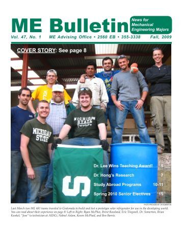ME Bulletin - College of Engineering, Michigan State University