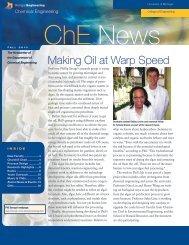Making Oil at Warp Speed - Chemical Engineering - University of ...