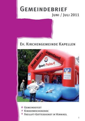 Gemeindebrief 3 2011 - Evangelische Kirchengemeinde Moers