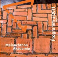 Programm 2|2011 - Melanchthon-Akademie