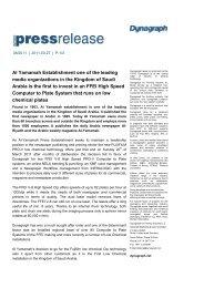 Al Yamamah Establishment one of the leading media ... - Dynagraph