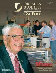 OCOB Mag Spring 07-2b - Cal Poly College of Business