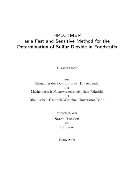 ulb uni bonn online dissertation