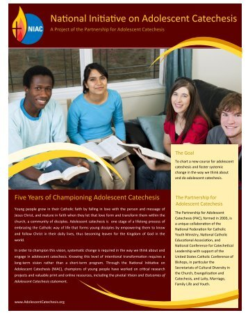 National Initiative on Adolescent Catechesis - Amazing Catechists