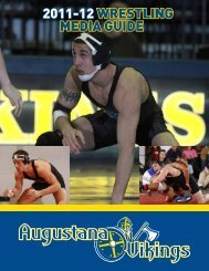 2011-12 WRESTLING MEDIA GUIDE - Augustana College