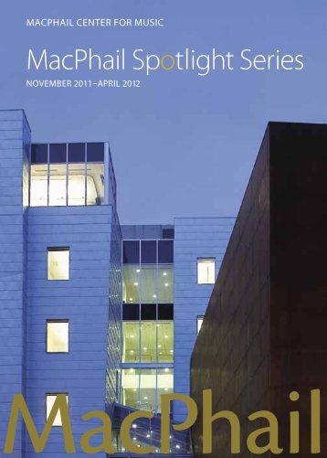 MacPhail Spotlight Series - MacPhail Center for Music