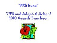 """""""Speeding to Success"""" VIPS and Adopt-A-School 2007 Awards ..."""