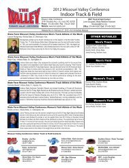 Indoor Track & Field - Missouri Valley Conference