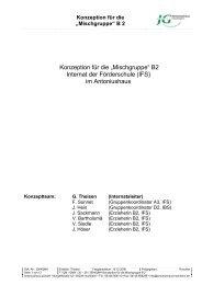"""Konzeption für die """"Mischgruppe"""" - Antoniushaus Hochheim"""
