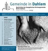 Oktober | November 2009 - Evangelischen Kirchengemeinde Berlin ...