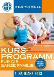 Kurs- programm - SV Blau-Weiß Hand