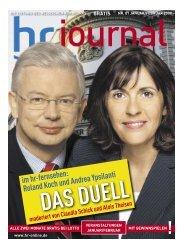 Roland Koch und Andrea Ypsilanti - Hessischer Rundfunk