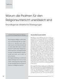 Die Titelthemen - Religionspädagogisches Seminar