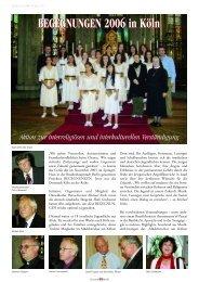 BEGEGNUNGEN 2006 in Köln - MalereiMedizinMusik