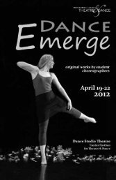 View Playbill as PDF - Muhlenberg College