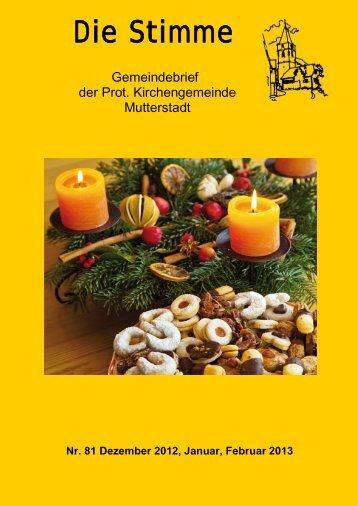 Die Stimme 81 - Protestantische Kirchengemeinde Mutterstadt