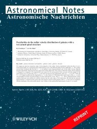 Astronomical Notes - Astronomy & Physics - Saint Mary's University