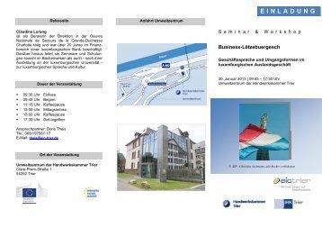 einladung - Wirtschaftsportal der Region Saar-Lor-Lux