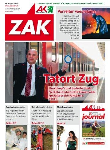ZAK, Ausgabe April 10 (pdf - 5 MB) - Arbeiterkammer
