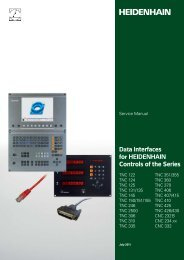 Data Interfaces for HEIDENHAIN Controls of the Series